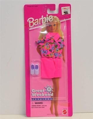 Details About Mattel 68014 92 Barbie Great Weekend Fashions Nrfb