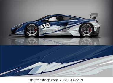 Sport car racing wrap livery design  vector design