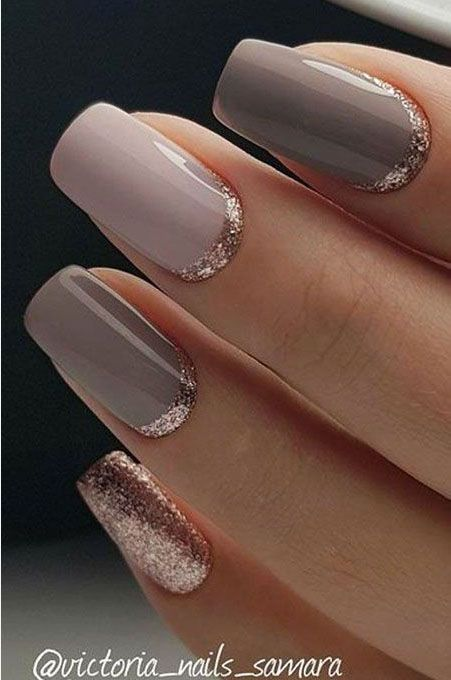 56 Classy Skin Color Nail Art Designs In 2020 Gold Gel Nails