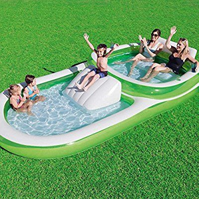 Amazon Com Bestway H2ogo Two In One Wide Inflatable Family