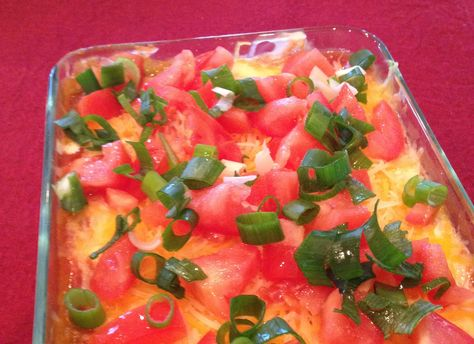 7 Layer Dip with avocado, salsa and more.