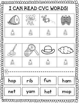 Cvc Worksheets Cvc Worksheets Kindergarten Phonics Worksheets Cvc Kindergarten to first grade worksheets