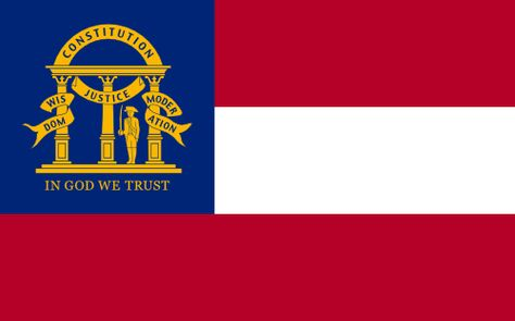 Georgia Flag Georgia Flag In God We Trust Flag