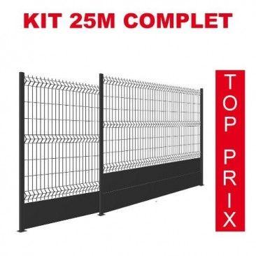 Kit De 5 A 80m Grillage Rigide Soude Maille 100x55 Sur Platine Ou A Sceller Grillage Rigide Kit Electrostatique