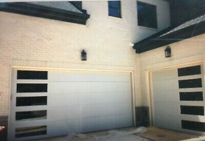 One Modern Garage Door 9x8 Galvanized Steel Insulated In 2020 Garage Doors Modern Garage Modern Garage Doors