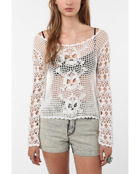 crochelinhasagulhas: Blusa de crochê com caveiras