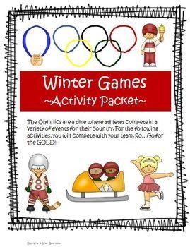 Winter Olympics Student Challenge (Five Fun Classroom Events) $