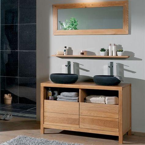 Meuble Salle de bain en teck 165 Serena Small bathroom, Bathroom