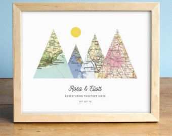 This sweet print makes the perfect unique gift. Choose ANY three cities in the world! We have a vast resource of maps to use, so even small towns are no problem most of the time. ▧ Customization ▧ Leave a note at checkout with the following information: • The names to be featured • The cities to be featured • The significant date • Note the scale of the maps in the photo -- your maps will likely be the same scale, so if your town is small please realize it may look small on the map! ▧ Pap...