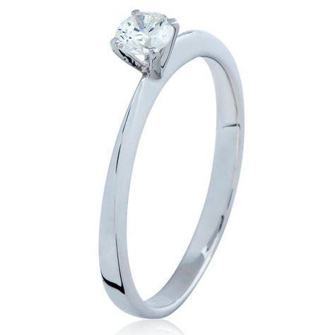 ee8255b96ef15 Anel Solitário Cartier em Ouro Branco com Diamante