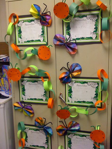 Caterpillars and Butterfly Writing - cute display