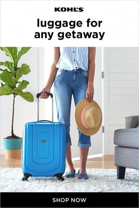 Road trip planned? Leaving on a jet plane? Kohl's has the luggage you need for your next getaway with brands like Samsonite, Columbia, Chaps and more. Plus, we've got the sizes you need no matter how big your packing list. Check off your bucket list with Kohl's. #travel #luggage #rvpackinglist