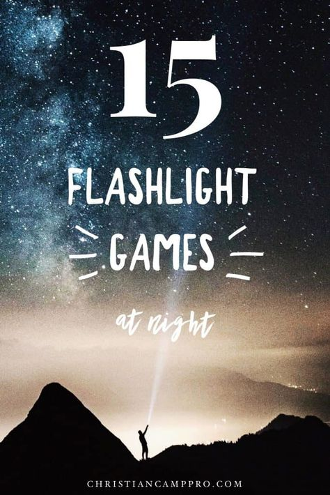 15 Fun Flashlight Games for Your Next Nighttime Activity 15 Flashlight Games at Night – Are you tired of the same old night time games? Then, get creative with by incorporating one of these fun flashlight games. Watching is as fun as playing! Time Games For Kids, Games For Teens, Adult Games, Fun Games, Youth Games, Group Games, Activity Games, Family Games, Kids Fun