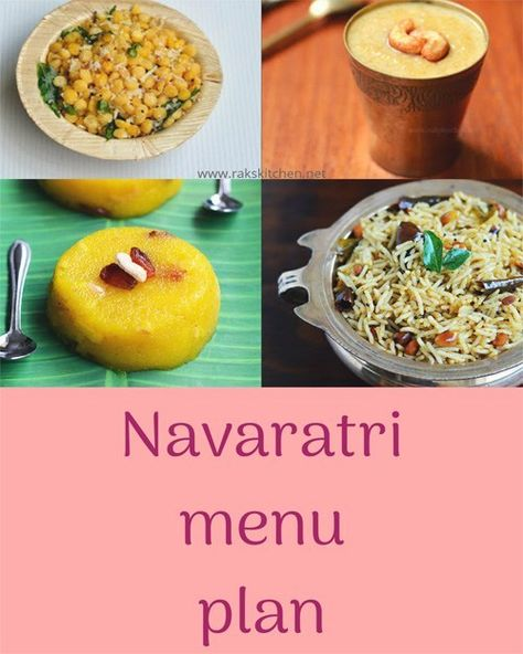 Navaratri menu plan for 9 days - Raks Kitchen