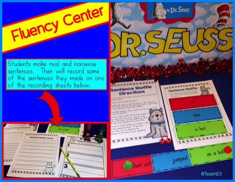 Dr. Seuss - Cat in the Hat Giveaway, FREEBIE, and Resources. Reading passages, rhyming activities, charades, ABC order, fluency center, and more. Paid