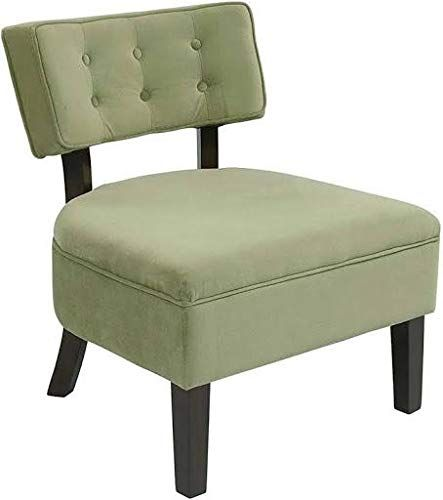Super Curves Button Tufted Back Accent Chair Spring Green Velvet Caraccident5 Cool Chair Designs And Ideas Caraccident5Info