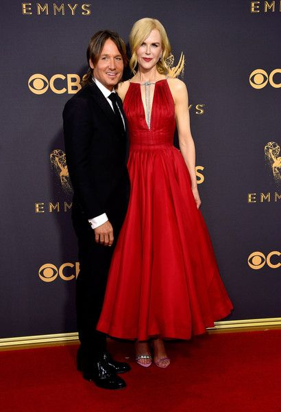 Musician Keith Urban and actor Nicole Kidman attend the 69th Annual Primetime Emmy Awards at Microsoft Theater.