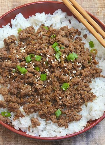 Korean Bbq Ground Beef Is Easy To Make With A Short List Of Ingredients And In Under 30 Minutes It S A Korean Ground Beef Healthy Chicken Recipes Beef Recipes