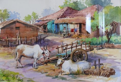 Our Beautiful Indian Village Paintings It S My World And My
