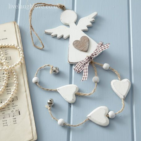 Dangly Angel & Hearts -Painted