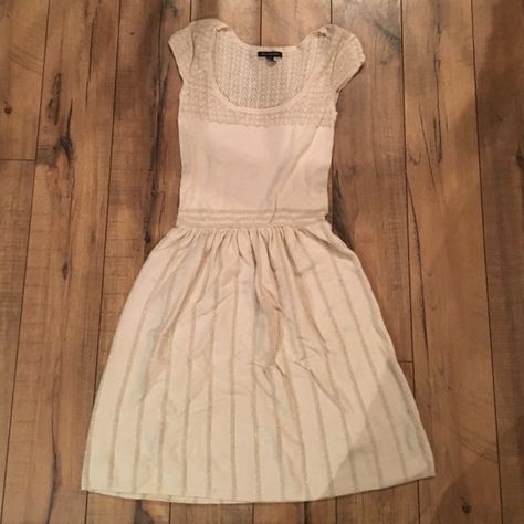 721fbd38dd42 Cream and Gold Sweater Dress Gentle use. Gold detailing. Crochet top ...
