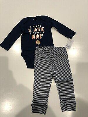 NWT Carter/'s Baby Boys 2-Piece Bodysuit /& Pant Set Long Sleeve Size:12M