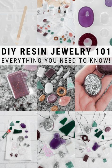 Learn how to make resin jewelry. These resin ideas will inspire even beginner resin crafters. I'm sharing everything you need to know, including troubleshooting 8 common issues when making resin jewelry. Resin Jewelry Tutorial, Resin Jewelry Molds, Resin Jewlery, Resin Tutorial, Making Resin Jewellery, Jewelry Making Tutorials, Diy Resin Beads, Diy Resin Necklaces, Diy Resin Earrings