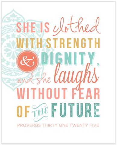 Proverbs 31:25 {Printable}