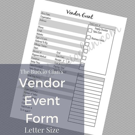 event show application app form document Form Craft Vendor - event order form