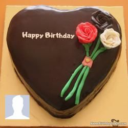 Best Birthday Cake With Name And Photo For Facebook Happy