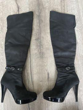 Kozaki Za Kolano Nysa Olx Pl Heeled Boots Boots Shoes