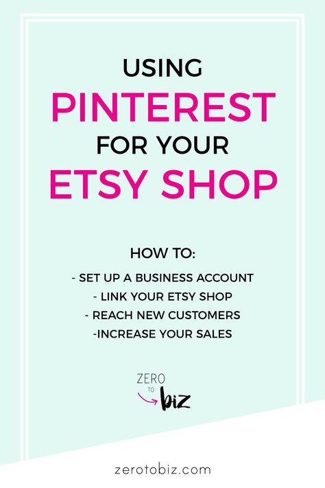 Pinterest for Etsy Sellers - zero to biz