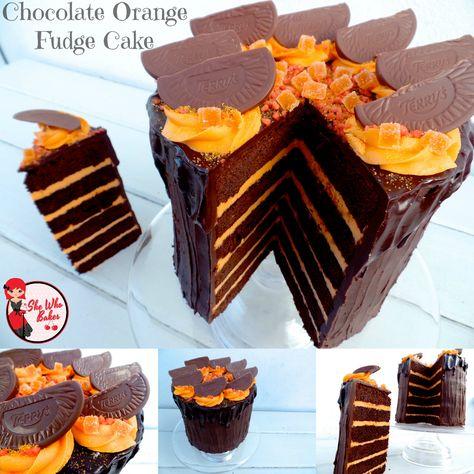 Chocolate Orange Fudge Cake - She Who Bakes