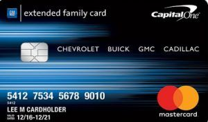 Gm Capital One >> Gm Extended Family Card Gm Capital One Credit Card