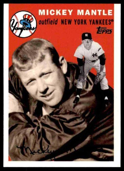 2007 Topps Baseball Mickey Mantle New York Yankees 43 Insert Newyorkyankees In 2020 Mickey Mantle Mantle New York Yankees