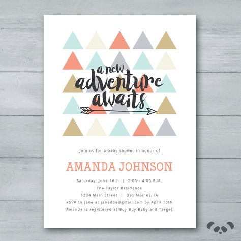 A New Adventure Awaits Baby Shower by PandafunkCreations on Etsy