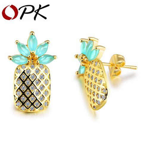 Gnzoe Fashion Jewelry Silver Plated Women Stud Earrings Yellow Cubic Zirconia Plum blossom