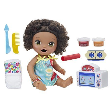 Baby Alive Snackin Treats Baby Black Curly Hair Doll Walmart Com In 2020 Baby Alive Baby Alive Dolls Baby Girl Toys