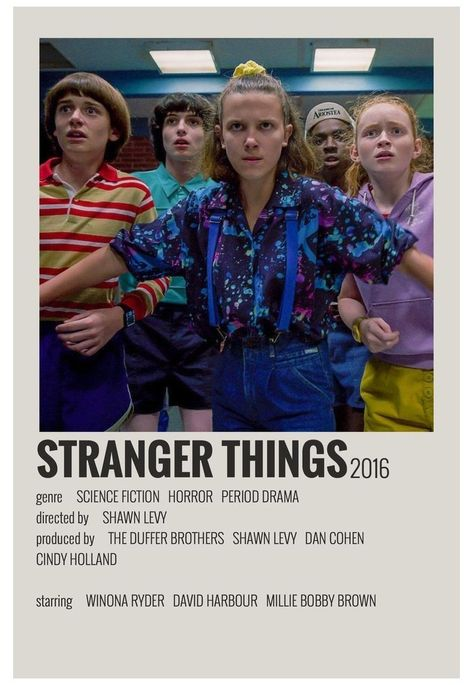 alternative movie posters polaroid stranger things