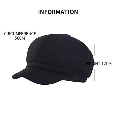 FARSEER Womens Wool Visor Beret Newsboy Hat Cap for Ladies