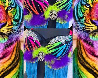 premade edc halloween the little mermaid edc orlando edm costume - Dark Siren Shell Bra: festival rave wear siren 36C