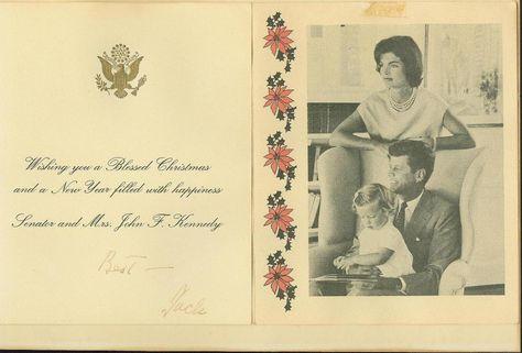 "ihideinmymusic: "" A Kennedy Christmas - card from 1959. """