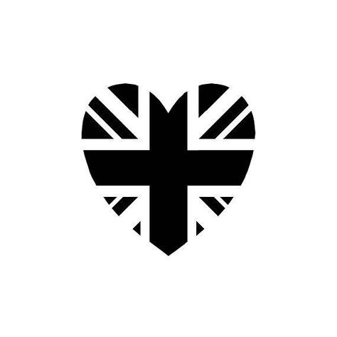 Union Jack Heart Rubber Stamp Mounted Stamp United Kingdom