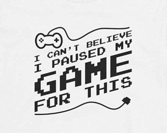 Funny Gaming Shirt Paused My Game To Be Here Youth Short Sleeve T