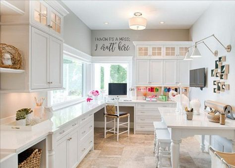 Craft Room Office, Home Office Furniture, Office Craft Room Combo, Room Remodeling, Home Office Design, Craft Room Design, Home Decor, Room Makeover, Room Design