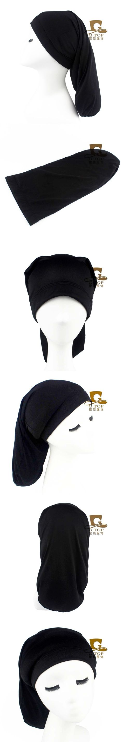 Black Spandex Strong Dreadlocks Braids Cap Beanie Hat Long Cylinder Sleep Cap