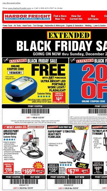 Black Friday Sale Extended New Items Added Harbor Freight Tools Email Archive Harbor Freight Tools Happy Fathers Day Daddy Black Friday Email