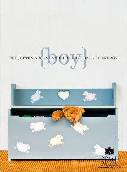 Wall Decal Boy Definition Vinyl Wall Words By Singlestonestudios