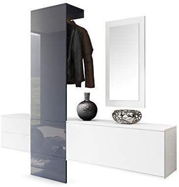 Garderobe Wandgarderobe Carlton Set 1 Korpus In Weiss Matt