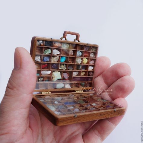 Collection of stones in the suitcase - buy or order in an online shop on Livemaster | The collection of stones and minerals in the case…
